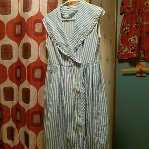 Dresses & Skirts - 1950s striped sailor collared dress